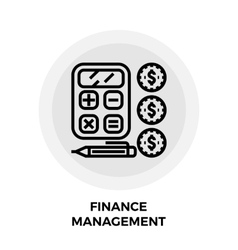Finance Management Line Icon vector