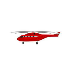 firefighting helicopter emergency service vehicle vector image