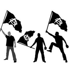 Flag anarchy vector