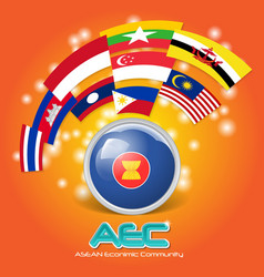 Flag asean economic community aec 03 vector