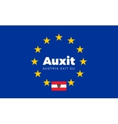 Flag of Austria on European Union Auxit - Austria vector