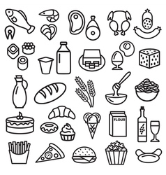 Food outline vector