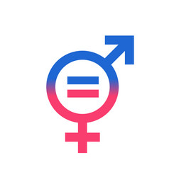 gender equal sign icon men and women equal vector image