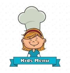 Girl kids menu food vector