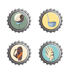 golf club seals set icons vector image