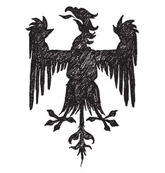 Gothic heraldic eagle was designed by french vector