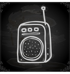 Hand Drawn Walkie Talkie vector image