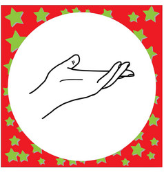 Hand open and ready to help or receive vector