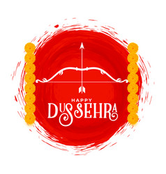Happy dussehra hindu culture card design vector
