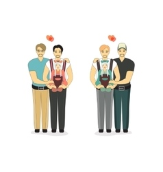 Happy Gay Couple with a Baby vector image