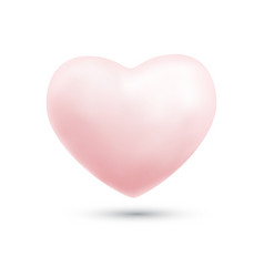 Happy valentines day with symbol 3d pink heart vector