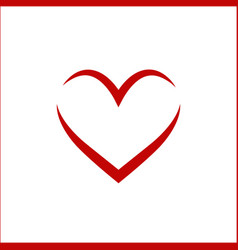 heart linear vector image vector image
