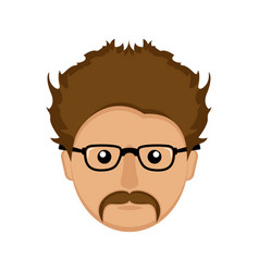hipster avatar icon vector image