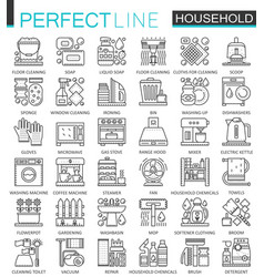 Household appliances outline concept symbols vector