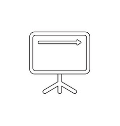Icon concept sales chart arrow up vector