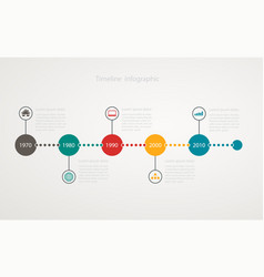 infographic timeline with icons vector image
