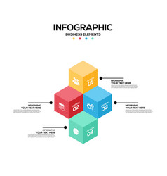 infographics business marketing report template vector image