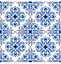 italian tile pattern ethnic folk ornament vector image