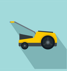 Lawn mower icon flat style vector