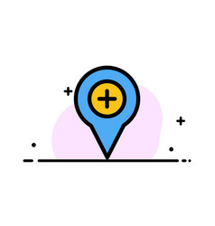 Location map navigation pin plus business flat vector