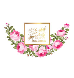 luxurious vintage card vector image