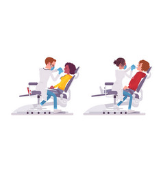 Male and female dentist doctor vector