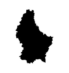 Map luxembourg isolated vector