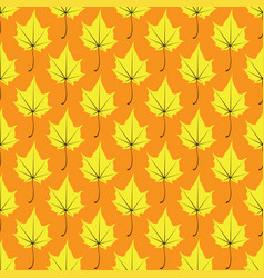 maple leaves seamless yellow orange art vector image