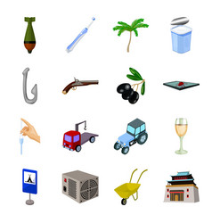 Mongolia garbage computer and other web icon in vector