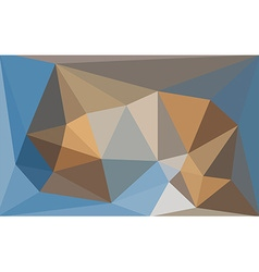 Multicolored blue and brown low poly style vector image