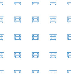 nightstand icon pattern seamless white background vector image