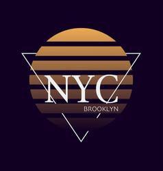 Nyc print typography design new york pattern vector