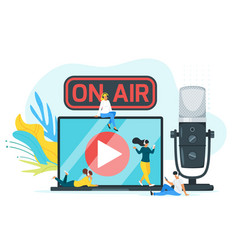 On air color flat vector