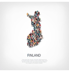 People map country Finland vector