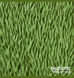 plasticine grass background close up vector image