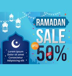 Ramadan sale vector