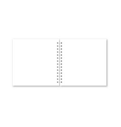 Realistic opened notebook cover vector