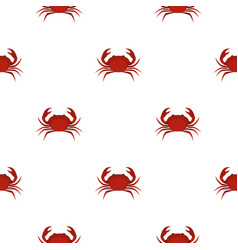 Red king crab pattern seamless vector