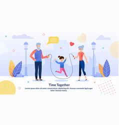 Relatives rest spending time together flat poster vector