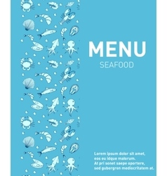 Sea food restaurant menu Seafood template design vector