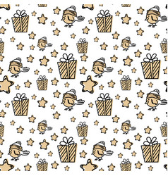 seamless pattern with christmas elements in vector image