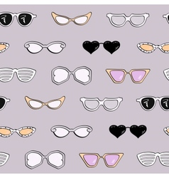 Seamless pattern women fashion sunglasses vector