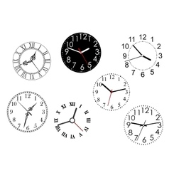 Set isolated clock dials vector