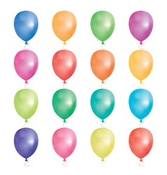 Set of 16 party balloons vector image