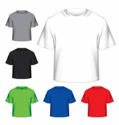 Set of blank t-shirts vector