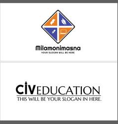 Set of education logo desi gn vector