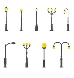 set street lamps vector image