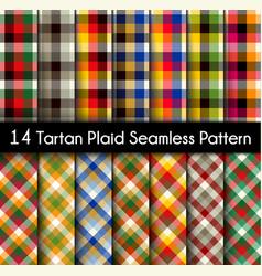 set tartan seamless pattern seamless tartan vector image