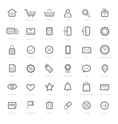 shopping icons on white background vector image