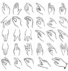 sign language vector image